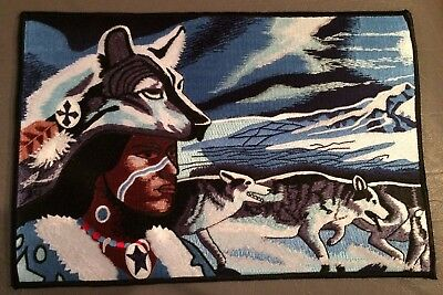 Wolf with Native American Indian patch
