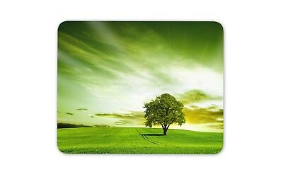 Beautiful Field with Trees Mouse Mat Pad - Nature Sunset Gift PC Computer #8264