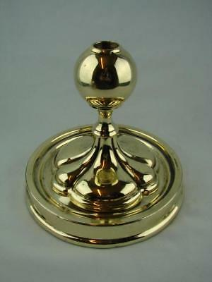 ATTRACTIVE 19th C DECORATIVE POLISHED BRASS, OIL LAMP BASE, UNUSUAL BALL MOUNT