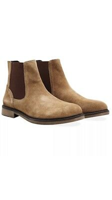 Redfoot Reece Tan Men's Suede Chelsea Boots UK 10