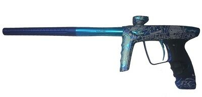 Paintball Markierer DLX Luxe ICE - TATTOO blue dust/teal dust