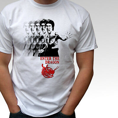 Bruce Lee Enter The Dragon white t shirt top - mens and kids sizes