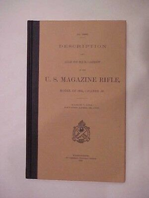 "Unissued 1906 Hardbound Manual for the M1903 ""Springfield"" Rifle"