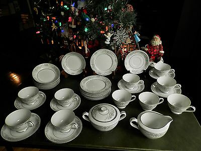 36 Pcs Rose China Brenda # 3801 Cups Saucers Berry Bowls C/sbowl Side Plat Japan