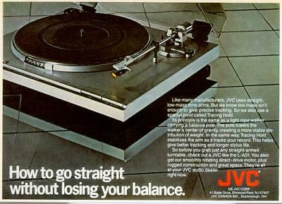 1981 JVC L-A31 Turntable Record Player Straight Tone Arm Vintage Print Ad 80s