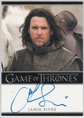 Game Of Thrones Season 1 Jamie Sives As Jory Cassel Autograph Bordered