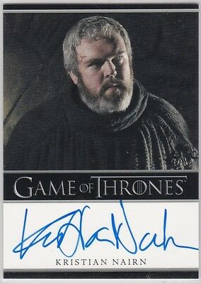 Game Of Thrones Season 1 Kristain Nairn As Hodor Autograph Bordered