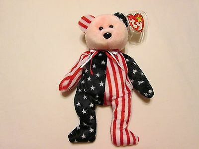 Pink face Spangle Bear 1999 Ty Beanie Babies June 14 1999