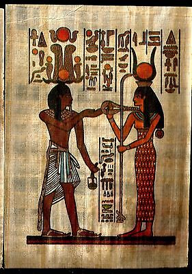 Egypt Collectibles Papyrus Pharonic Coloured Handmade Tableaux Replica Lot2