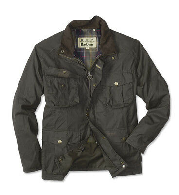 Barbour BNWT $425 Men's Waxed Cotton Olive Green Utility Jacket Size Large 42-44