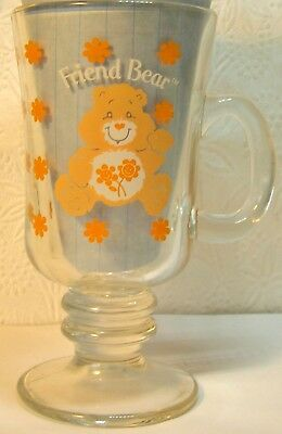 Care Bears Friend Bear Mug 1984 WEDNESDAY IT'S ALL DOWNHILL FROM HERE !