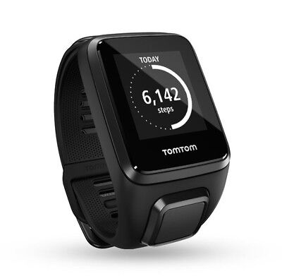 New TomTom Spark Music Multisport GPS Running Sports Fitness Watch Black - Small