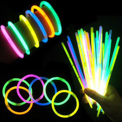 10-200pcs*Glow Sticks  Bracelets Necklaces Neon Colours Party Favors Rave Disco