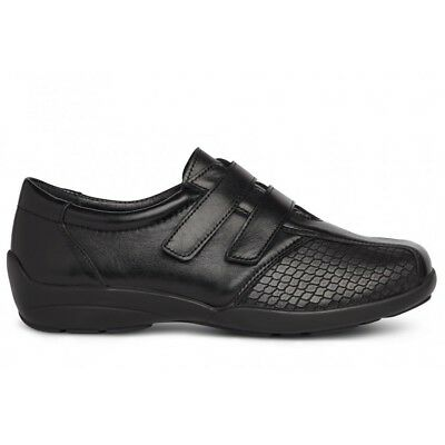 Ladies DB Easy B Vichy 6V Leather Stretch UP TO 8E Fitting Touch Fastening Shoes