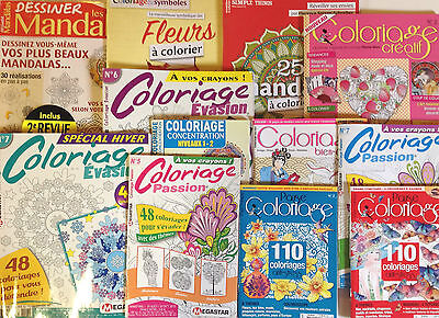 Coloriage Anti Stress Magazine.Lot 12 Magazines Coloriage Anti Stress Art Therapie Coloriages Lot 12