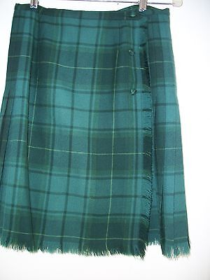 Vintage Plaid Pleated Kilt Skirt