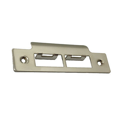 Long Square Nickel Plated Strike Plate Tubular Mortice Sash Door Latch / Lock