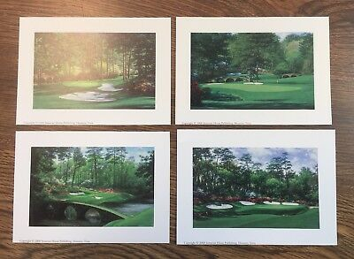 "4 - 5""x7"" Augusta National golf prints 10th,11th,12th,13th MASTERS free shipping"