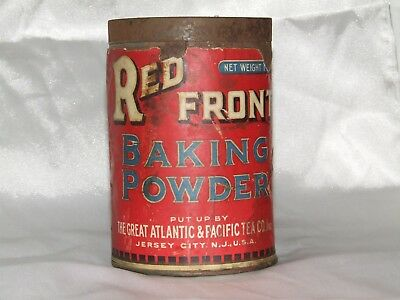 Vintage Red Front Baking Powder Tin (1 Pound Size)
