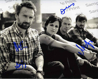 REPRINT RP 8x10 Signed Photo:  The Cranberries With Dolores O'Riordan