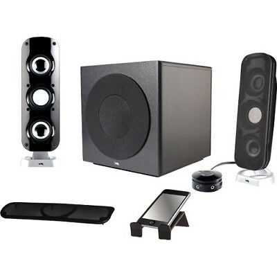 NEW Cyber Acoustics CA-3908 Speaker System 3 pc Powered Speakers CA3908