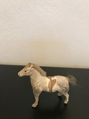 Hand Carved Wood Horse Figurine Antique Toy