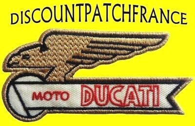 DUCATI GOLD EAGLE. Patch écusson embroidered sticker aufnäher patches.