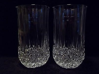 "Cristal d' Arques ""LONGCHAMP"" - 12 OZ. FLAT TUMBLERS  - Set of (2)"