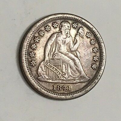 1841-O Seated Dime EF original problem-free NO RESERVE