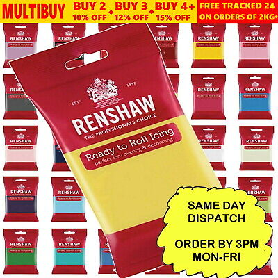 Renshaw Ready to Roll Sugarpaste Colour Cake Fondant Icing Covering Decorating