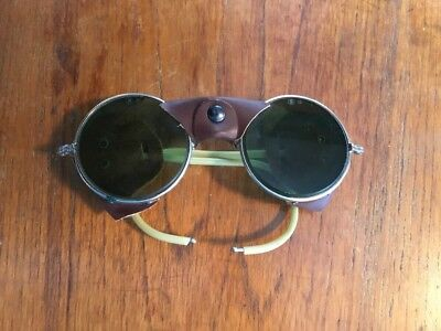 Vintage / Antique Wire rim  Welding Safety Glasses Goggles DH Steam Punk Green