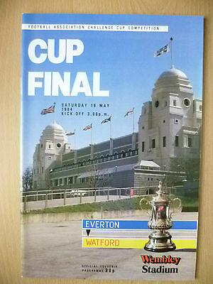 1984 FA CUP FINAL - EVERTON v WATFORD (Official Souvenir Programme)