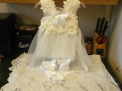 Bnwt Baby Girls Stunning Party Special Ocassion Dress Set 6-9 Months