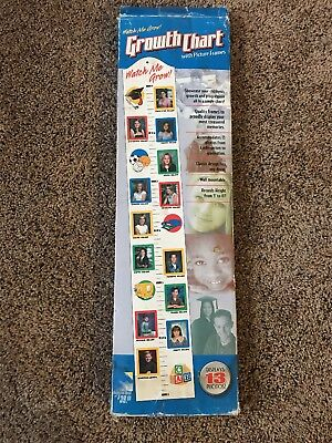 NEW Watch Me Grow! Growth Chart with Picture Frames(13Photos) School Years(K-12)