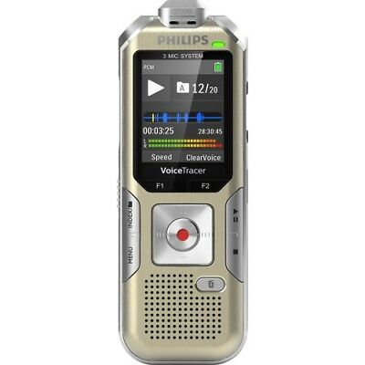 NEW Philips DVT8010/00 Voice Tracer Audio Recorder (DVT8010) 1.8-in 8GB Digital