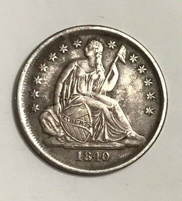 1840-O No Drapery Seated Dime EF Sharp Original Problem-Free NO RESERVE