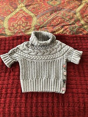 MATILDA JANE Girls Size 6 Gray Turtleneck Sweater EUC