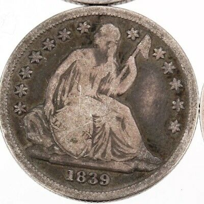 1839-O Seated Dime F/VF Gorgeous Color NO RESERVE