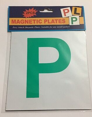 Magnetic P Plate Car Learner Sign 2 Piece Set