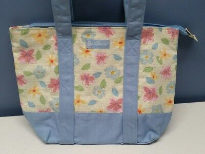 Longaberger 2009 Mother's Day Floral Blooms print gift Bag Tote Purse