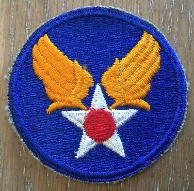 VINTAGE! ORIGINAL WW2 WWII US ARMY AIR FORCE PATCH USAF US ARMY AIR CORPS Unsewn