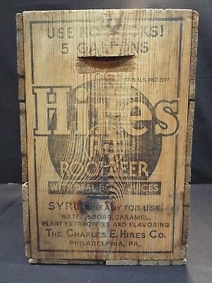 Vintage Hires Root Beer Syrup Crate