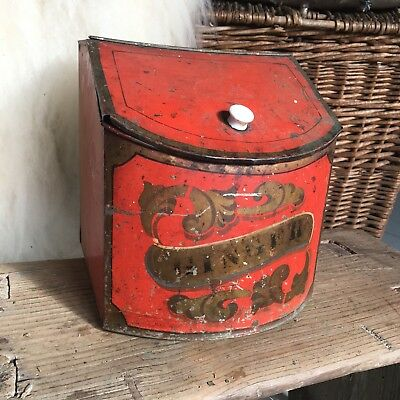Antique Country Store Tin Litho Spice Bin Can Ginger Apothecary Counter Display