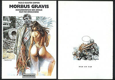 Morbus Gravis Serpieri Dokumentation Der Zensur Privatdruck Erotik Comic Hot