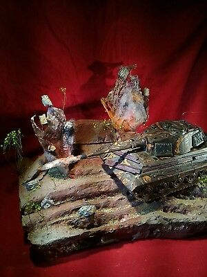 diorama base 1/32 action battlefield painted for tanks an military use an displa