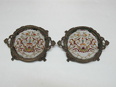 Pair of Fine Old Chinese Hua Rong Tang Zhi Porcelain dish