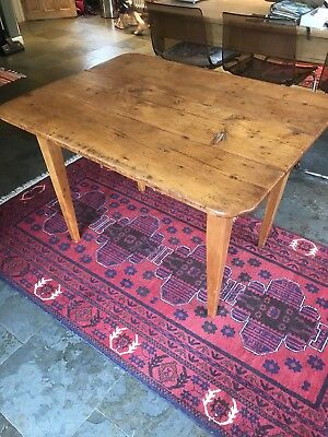 Antique Fruitwood Table with drawer VGC vintage kitchen