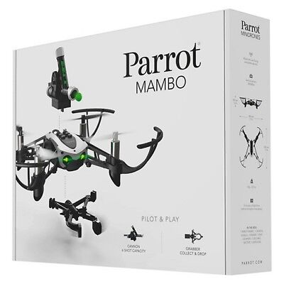 Parrot Mambo Mini Drone RC Drone RC Quadcopter with Cannon & Grabber + FREE GIFT