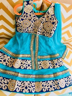 Lehenga chaniya Choli Skirt Top Indian Pakistani kids Bollywood Party Ethnic