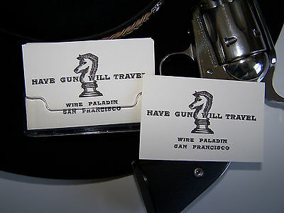 HAVE GUN WILL TRAVEL/Paladin - (2) Business card size cards! Amazing quality!